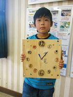 森の工作「木の時計づくり」